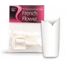 Типсы CNI French Flower - Белые с вырезом в виде цветка (50 шт. в пакете) №1