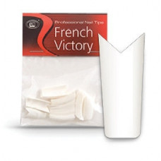 "Типсы CNI French Victory - Белые с вырезом ""шеврон"" (50 шт. в пакете) №1"