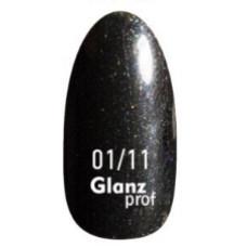 Glanz prof.Гель-лак Black Star №01/11 10 г