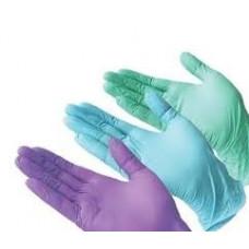 Перчатки нитрил ЦВЕТНЫЕ  М (1 пара)