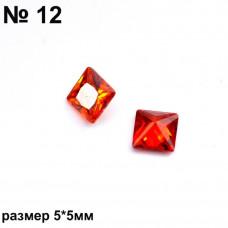 Камни фигурные красн 12 2шт