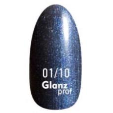 Glanz prof.Гель-лак Black Star №01/10 10 г