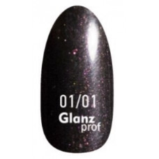 Glanz prof.Гель-лак Black Star №01/01 10 г