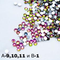 SOLINE.Стразы А10 (розово-зелёный хамелион ss4)