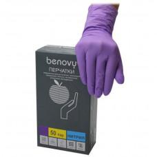 Перчатки нитрил Фиолетовые 1 кор. М (50 пар)