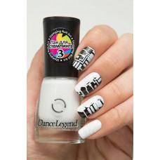 DL Лак для ногтей СТЕМПИНГ № 03 белый