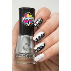 DL Лак для ногтей СТЕМПИНГ № 04 серебро