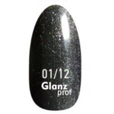 Glanz prof.Гель-лак Black Star №01/12 10 г