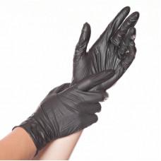 Перчатки виниловые черные 1 пара